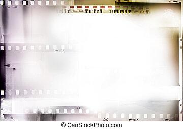 Film strips - Film negative frames, film strips