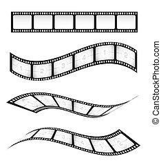 Film Strips - Various vector film strips for designs