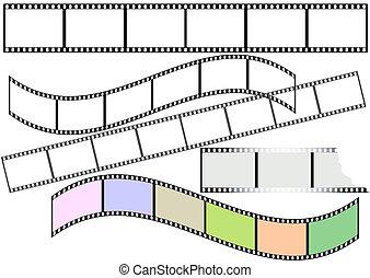 Film strips (vector) - Film strips on white background for...