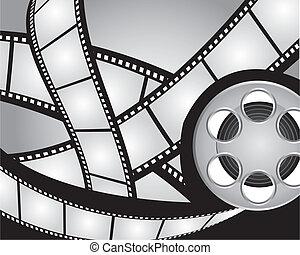 film, striscie, e, video, film