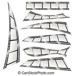 film tape color art vector illustration part two