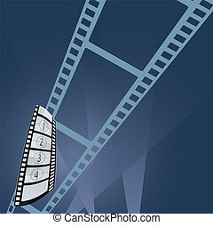 film tape entertainment vector illustration