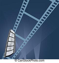 film tape entertainment vector illustration