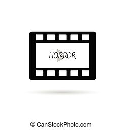 film tape horror vector illustration