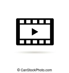 film tape play vector illustration