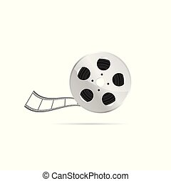 film tape roll entertainment illustration
