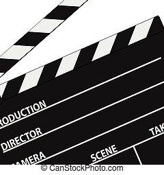 film tape symbol black vector