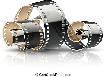 Film tape twisted reel for cinema movies