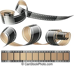 Film tape twisted reels for cinema movies