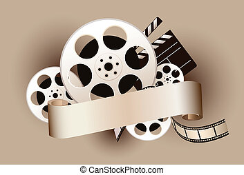film, tema, disegnare elemento