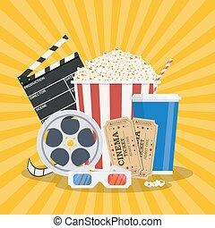 film, template., affiche