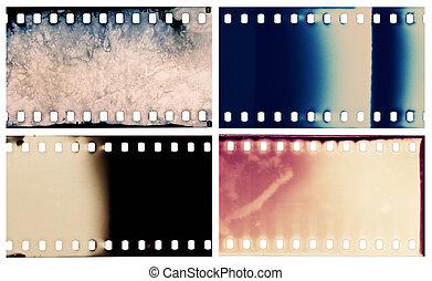 Film textures - Blank grained film strip textures