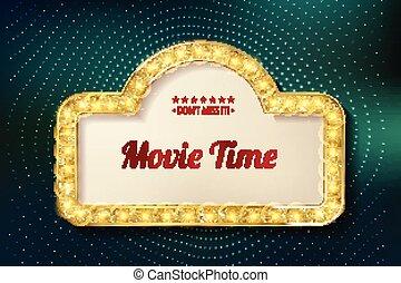 film, tid, bio, premiär, affisch, design.