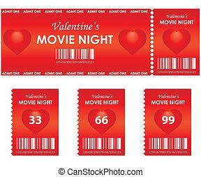 film, valentine, nuit