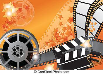 film, vecteur, affiche