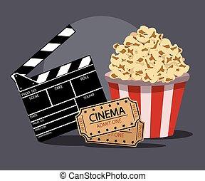 film, vektor, abbildung, industriebereiche