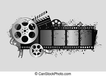 film, verwant, ontwerp