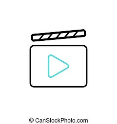 Film Video Cinema Icon. Vector illustration