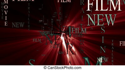 Film video poster template for advertisement the film. Text...