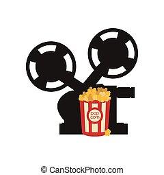 film, videocamera, conception, cinéma