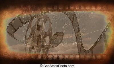 film, vieux, bande vidéo