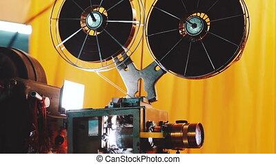 film, vieux, projecteur, pellicule