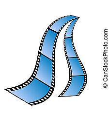 film, vrijstaand, strepen