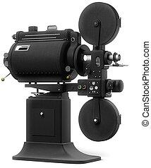 film, weißes, industrie, projektor