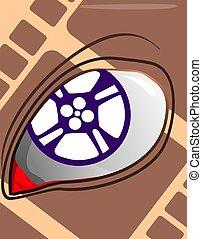 Film with eye