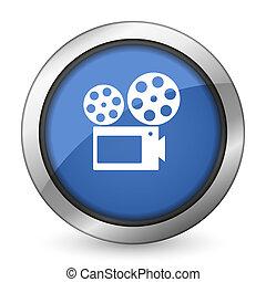 filme, ícone, cinema, sinal
