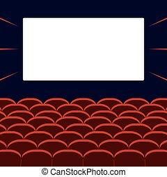 filme, corredor, cinema