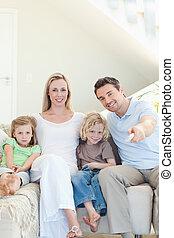 filme, desfrutando, família
