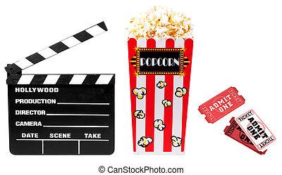 filme, relatado, itens