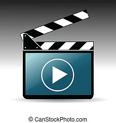 filme, tábua, aplaudidor