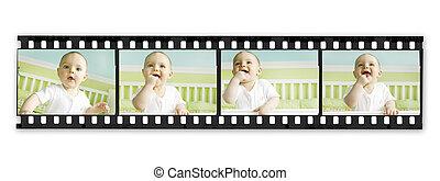 filmen wapenbalk, met, baby jongen, reeks
