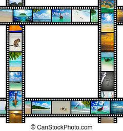 filmen wapenbalk, met, mooi, vakantie, afbeeldingen