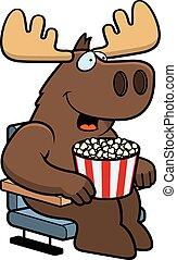 filmes, alces, caricatura