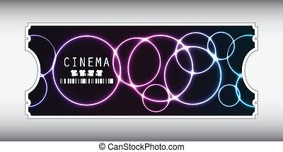 filmkarte, design, besondere, plasma