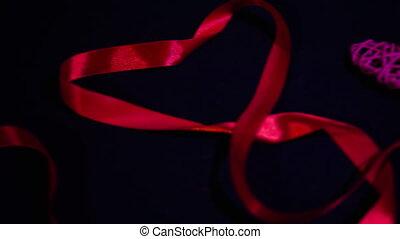 filmmeter, von, geschenkband, und, dekoration, heart.,...