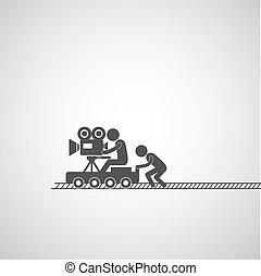 filmproduktion, symbol