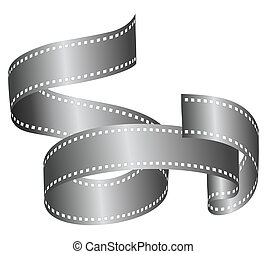 A strip of film roll in a nice artistic shape to use as a banner