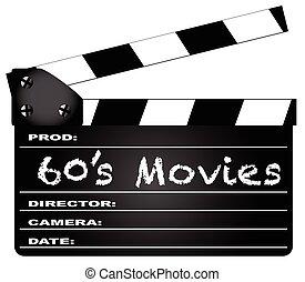 films, 60, clapperboard
