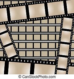 films, bandes, vecteur