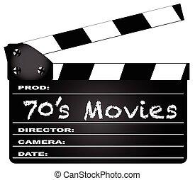 films, clapperboard, 70