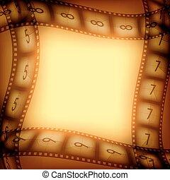 films, film, oud, achtergrond