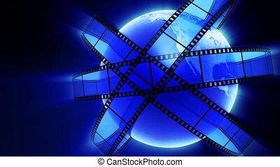 Films orbiting Earth
