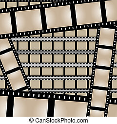 Films Strips Vector - Film strips background design with...