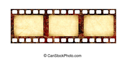 filmstrip, ペーパー, グランジ, レトロ, 手ざわり