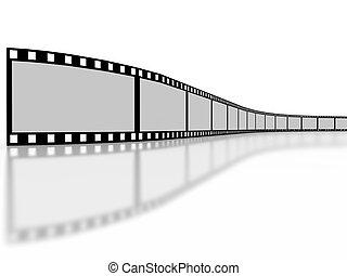 filmstrip, 白い背景