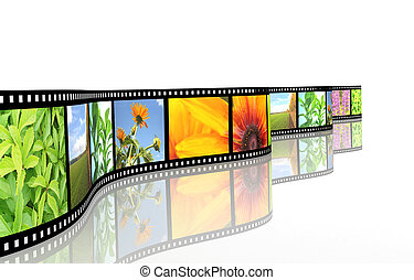 Filmstrip - Background - 3d abstract photographic film